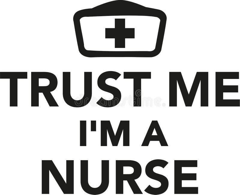 Confie-me o ` m de I uma enfermeira ilustração stock