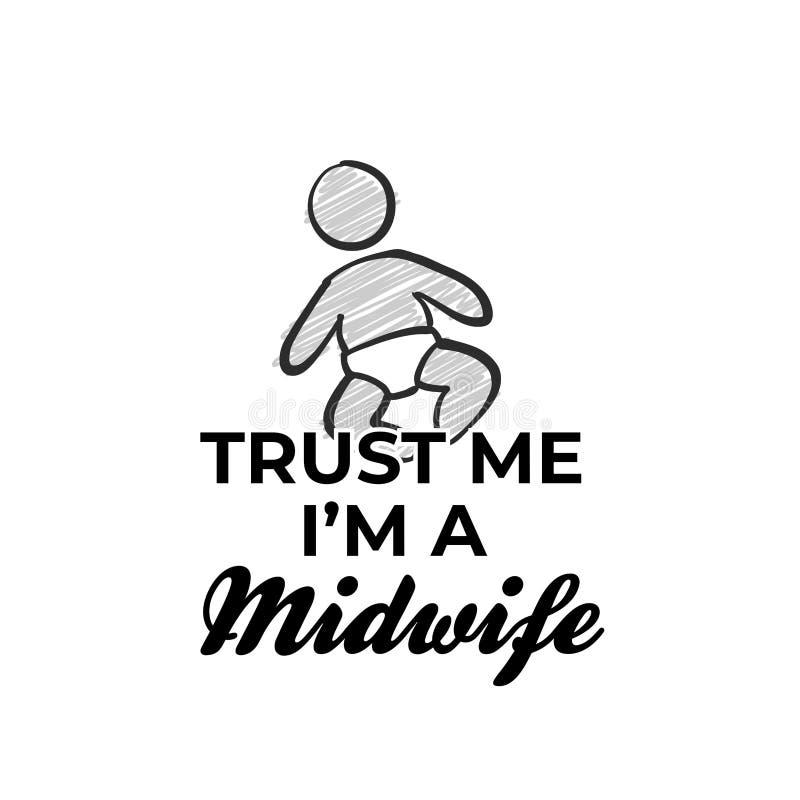 Confie que eu mim é um ícone da parteira ilustração royalty free
