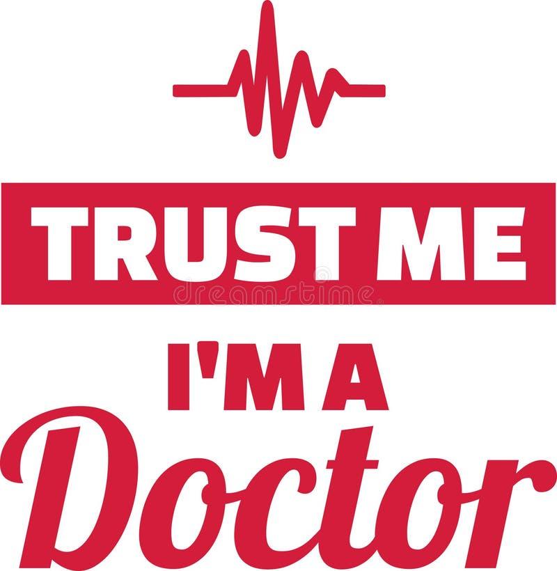 Confie que eu mim é um doutor ilustração royalty free