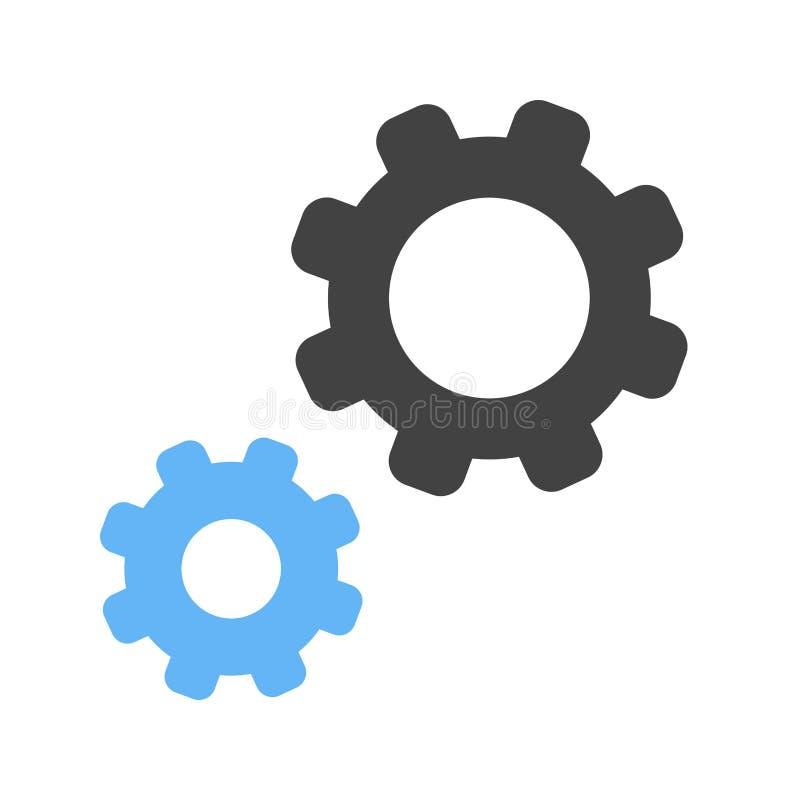 Configurações, ícone do controle ilustração royalty free