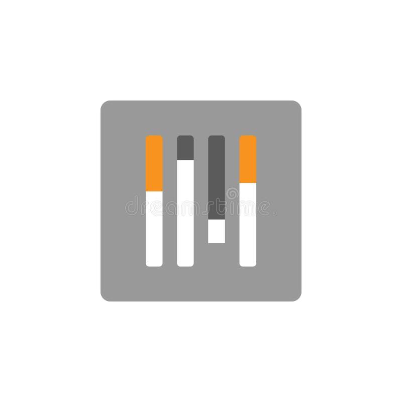 Configurações e ícone do equalizador Elemento de financeiro, de diagramas e de ícone dos relatórios para o conceito móvel e os ap ilustração do vetor