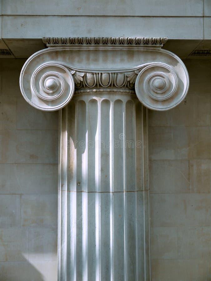 Configuración: Capital de columna iónico fotografía de archivo