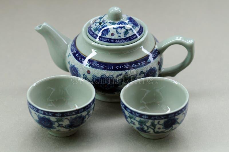 Configuración china del té imagen de archivo