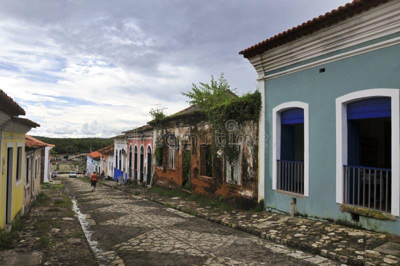 Configuración colonial brasileña fotos de archivo libres de regalías