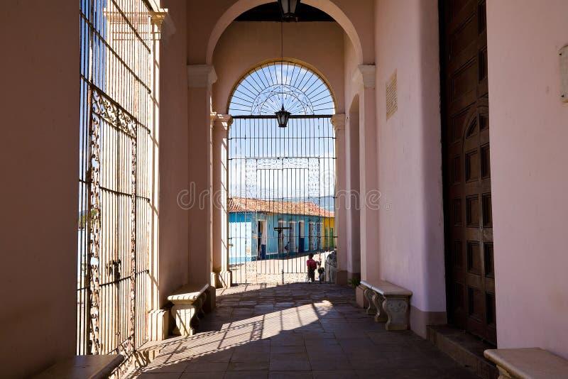 Configuración colonial, Trinidad, Cuba foto de archivo libre de regalías