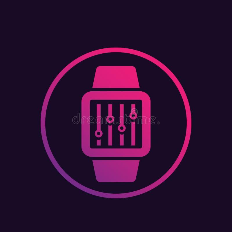 Configuración con el icono elegante del vector del reloj stock de ilustración