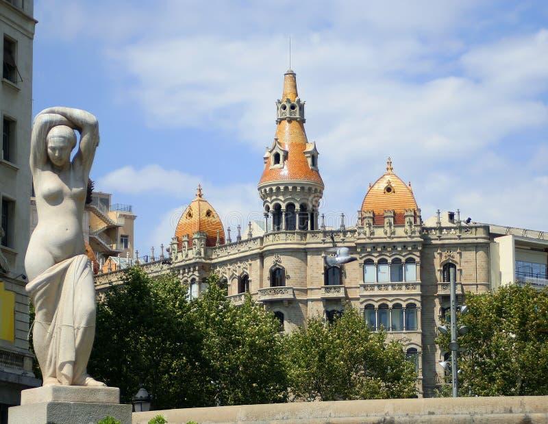 Configuración de Barcelona fotografía de archivo libre de regalías