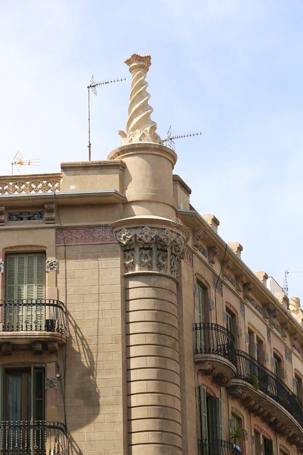 Configuración de Barcelona fotos de archivo