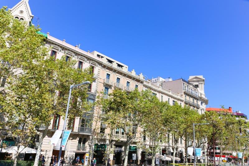 Configuración de Barcelona imagen de archivo libre de regalías