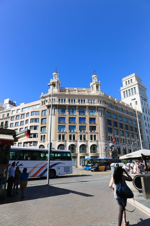 Configuración de Barcelona foto de archivo libre de regalías