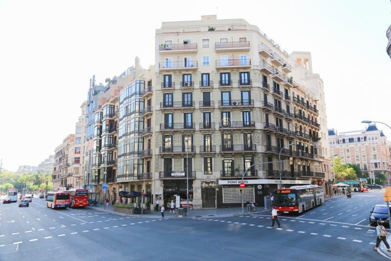 Configuración de Barcelona imagenes de archivo