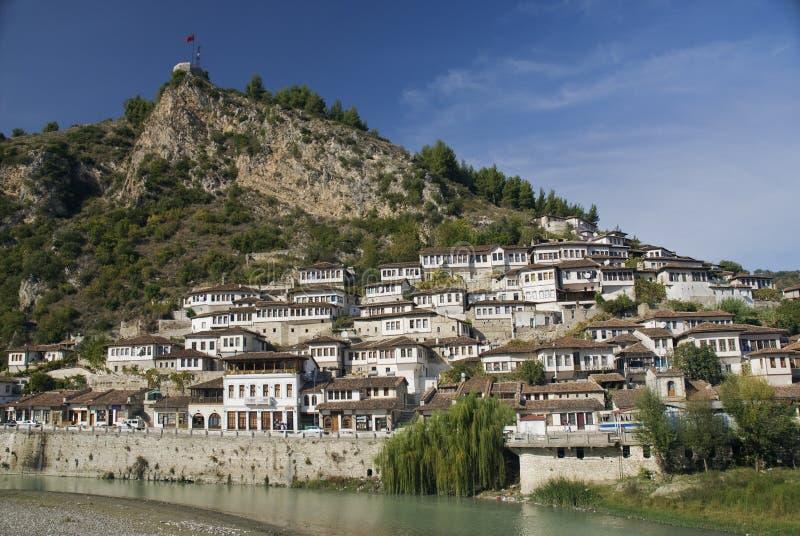 Configuración de Berat Albania fotos de archivo libres de regalías