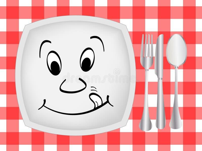 Configuración de la cena stock de ilustración