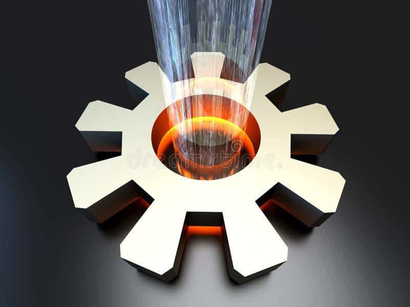 Configuración de la potencia ilustración del vector