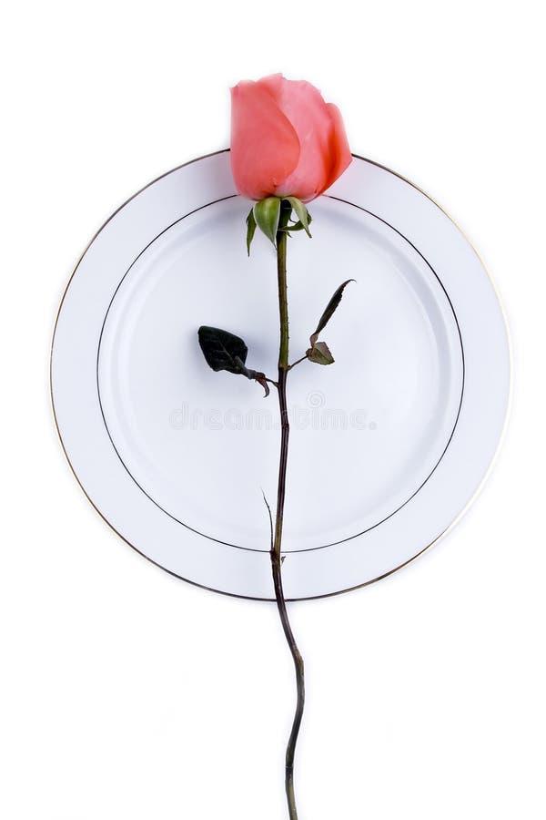 Configuración de lugar con Rose imagen de archivo libre de regalías