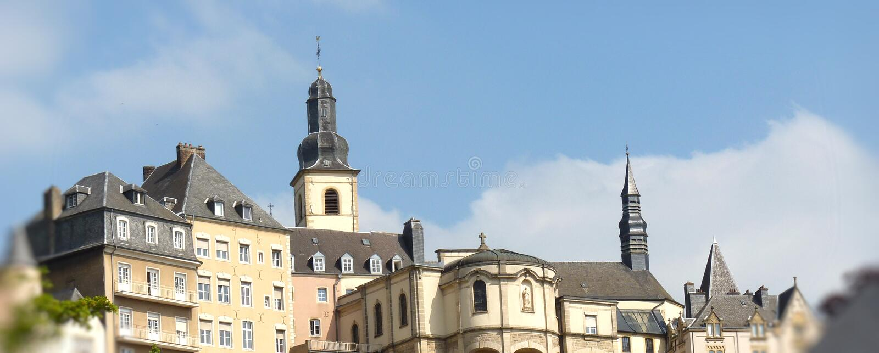 Configuración De Luxemburgo Foto de archivo libre de regalías