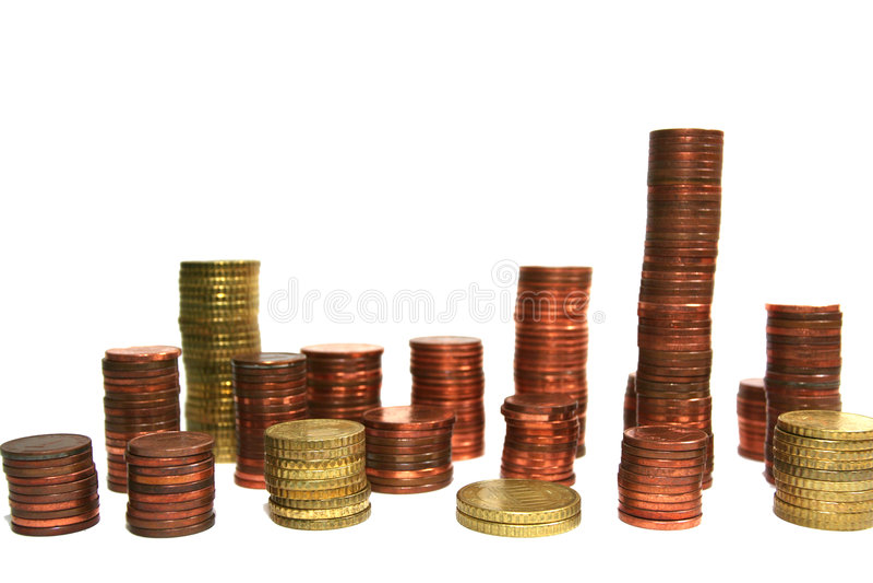 Configuración de monedas imágenes de archivo libres de regalías