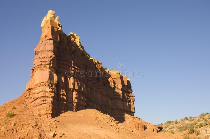 Configuración de Sun en el desierto de New México foto de archivo libre de regalías