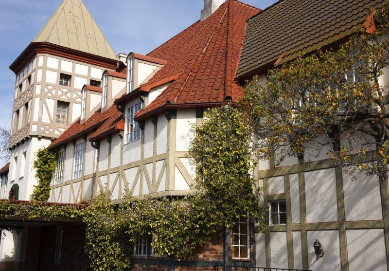Configuración de Tudor Solvang California foto de archivo libre de regalías