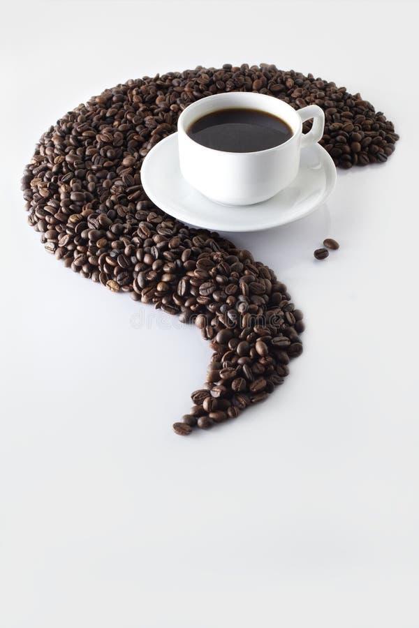 Configuración del café imagen de archivo libre de regalías