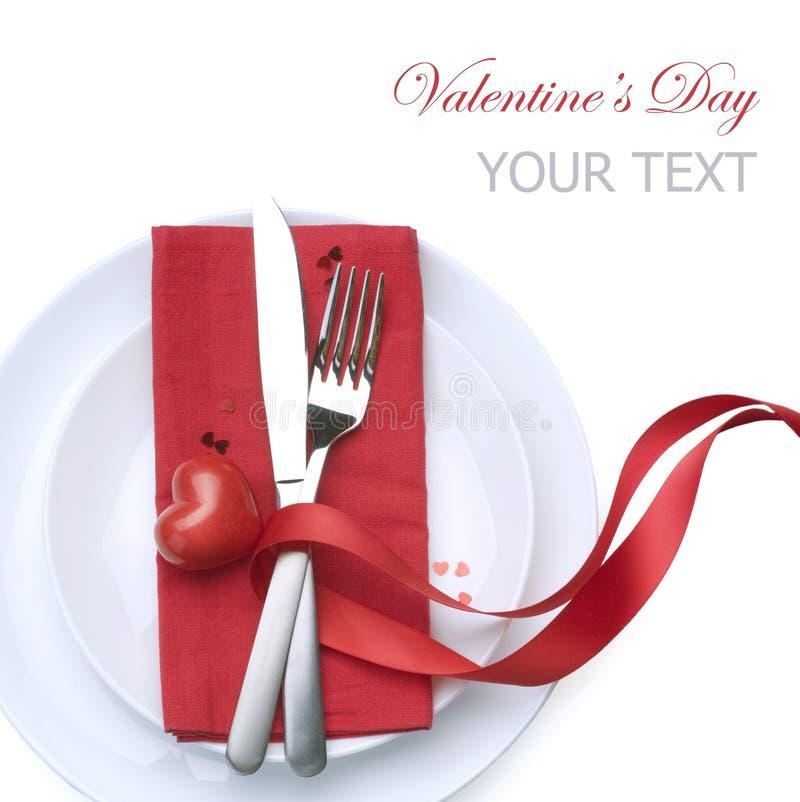 Configuración del vector de la tarjeta del día de San Valentín foto de archivo