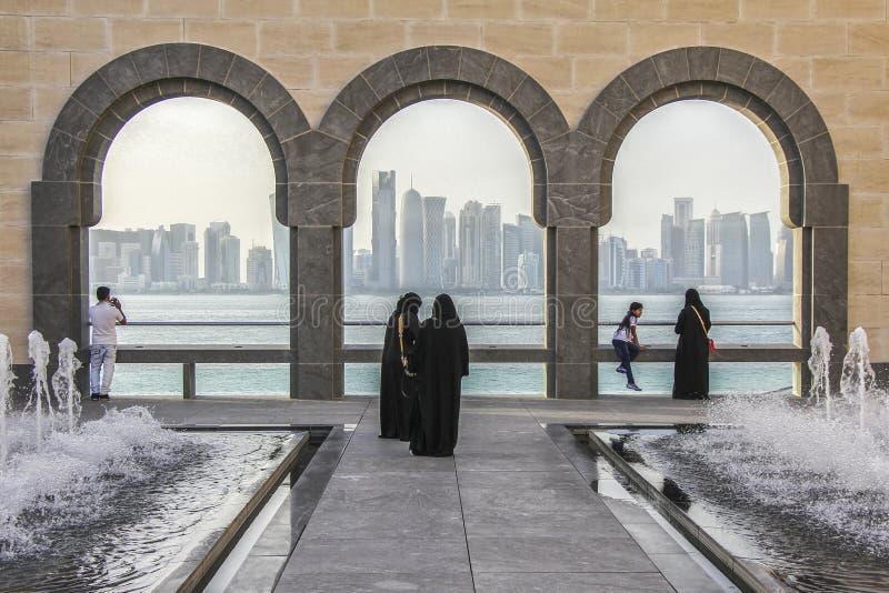 Configuración en Doha, Qatar fotos de archivo
