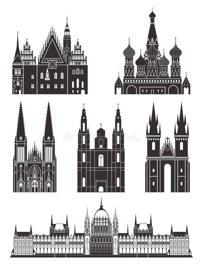 Configuración Europa Oriental stock de ilustración