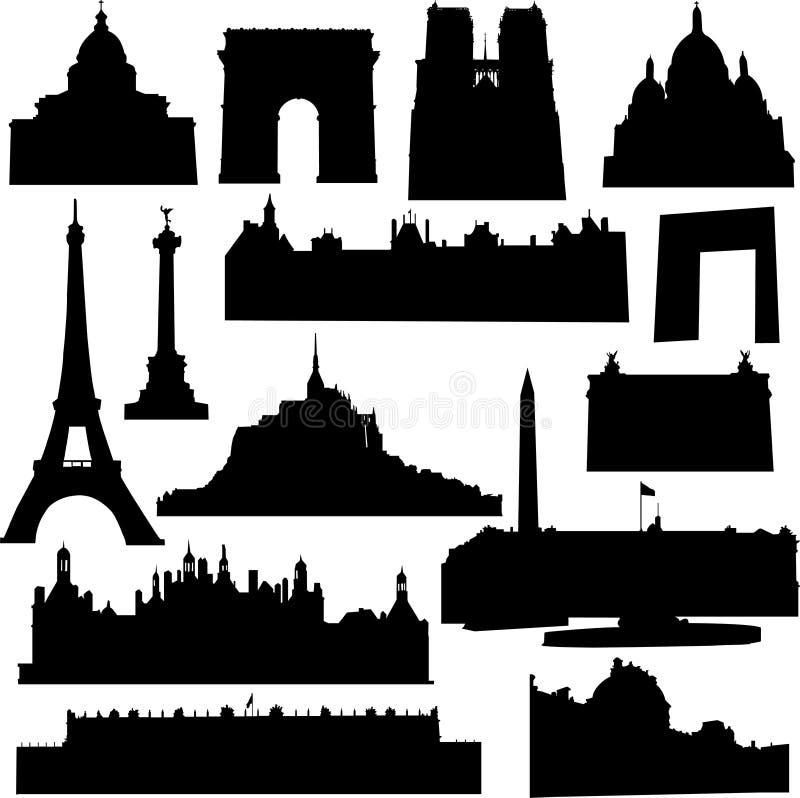 Configuración francesa bien conocida stock de ilustración