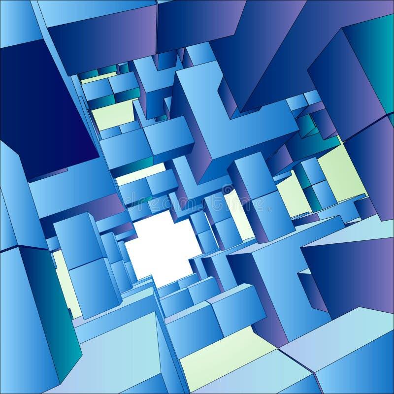 configuración futurista del fondo del vector 3D ilustración del vector
