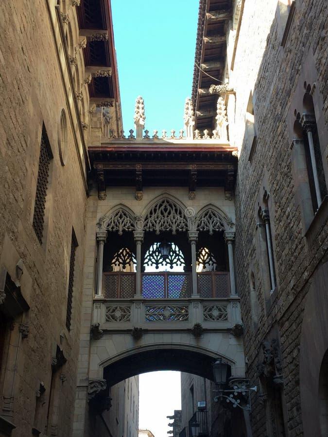 Configuración gótica en Barcelona fotografía de archivo