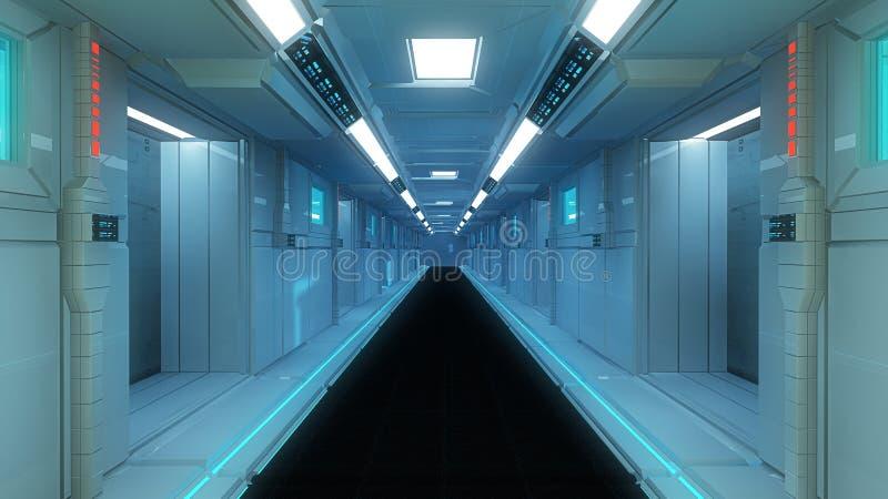 Configuración interior futurista libre illustration
