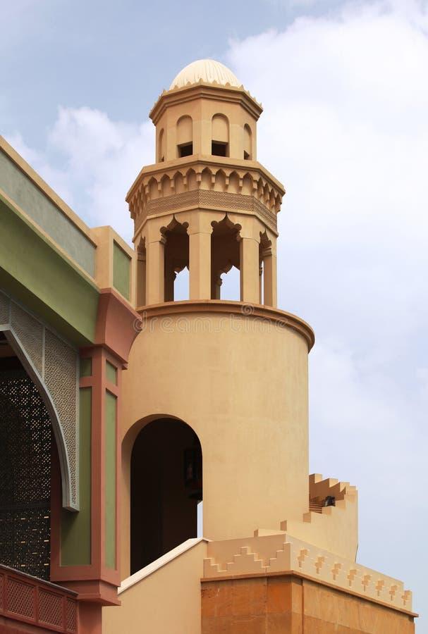 Configuración islámica en Qatar foto de archivo libre de regalías