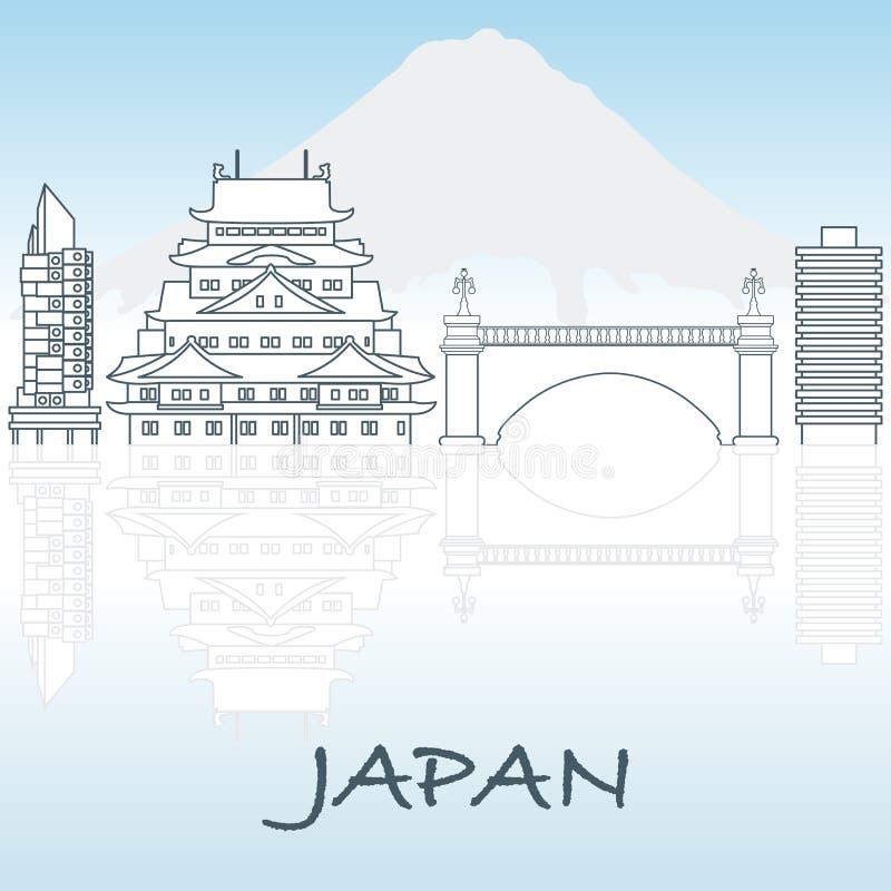 Configuración japonesa Montaje Fuji libre illustration