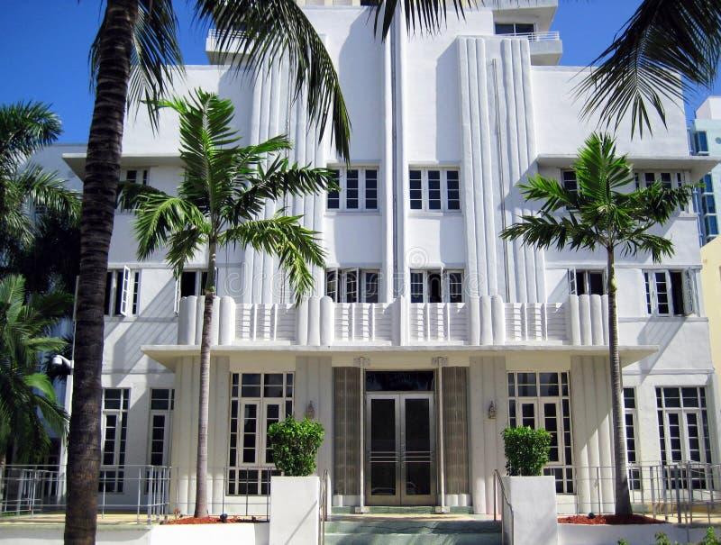 Configuración Miami del art déco fotos de archivo libres de regalías