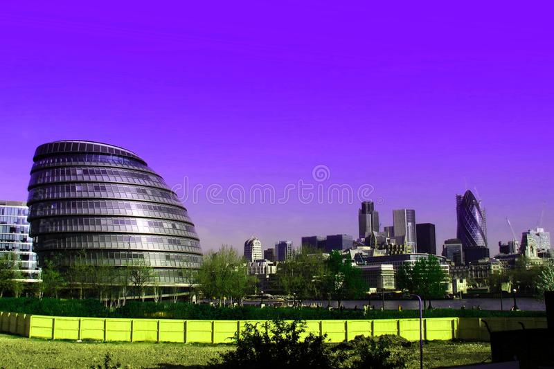 Configuración moderna en Londres foto de archivo