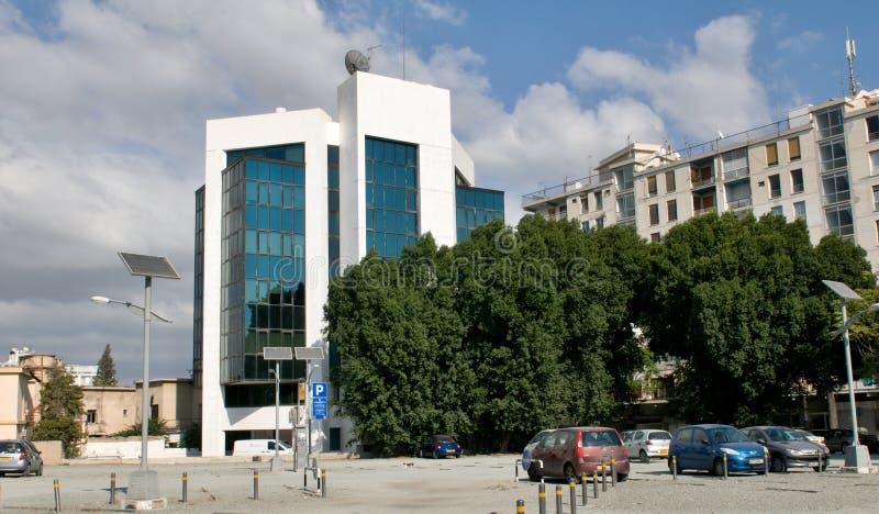Configuración moderna en Nicosia - Chipre imágenes de archivo libres de regalías