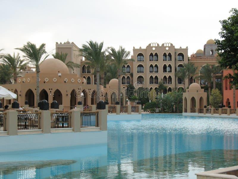 Configuración, piscina, hotel, fotos de archivo