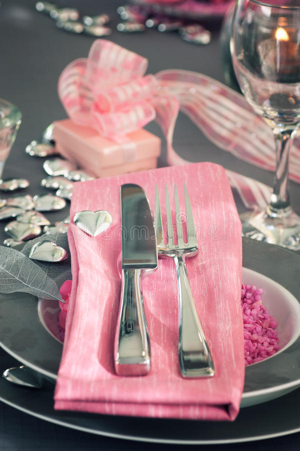 Configuración romántica del vector del día de tarjeta del día de San Valentín fotografía de archivo