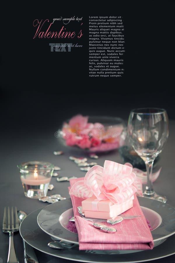 Configuración romántica del vector del día de tarjeta del día de San Valentín foto de archivo libre de regalías