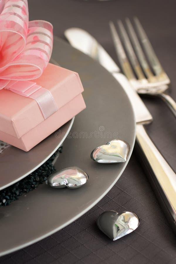 Configuración romántica del vector del día de tarjeta del día de San Valentín fotos de archivo libres de regalías