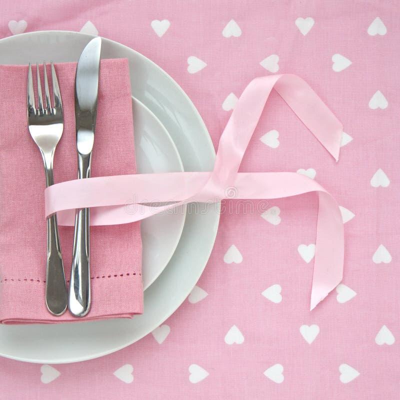 Configuración rosada del vector del día de tarjetas del día de San Valentín fotografía de archivo libre de regalías