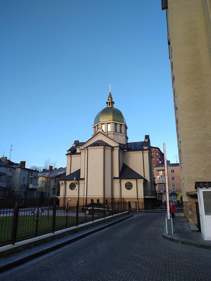 Configuración sagrada Iglesias en Ivano Frankivsk foto de archivo