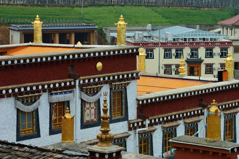 Configuración tibetana del templo imagen de archivo