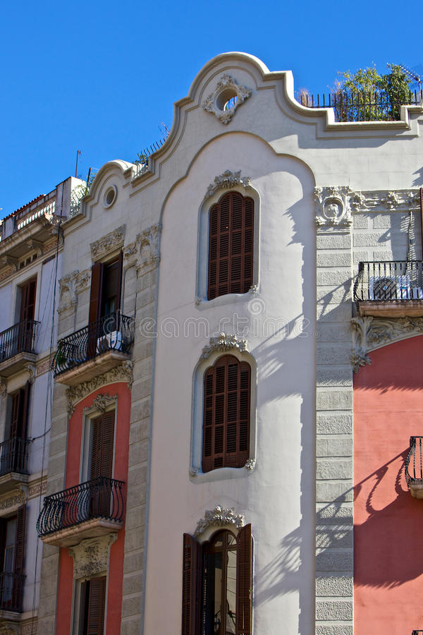 Configuración tradicional de Barcelona (España) - 15 fotografía de archivo