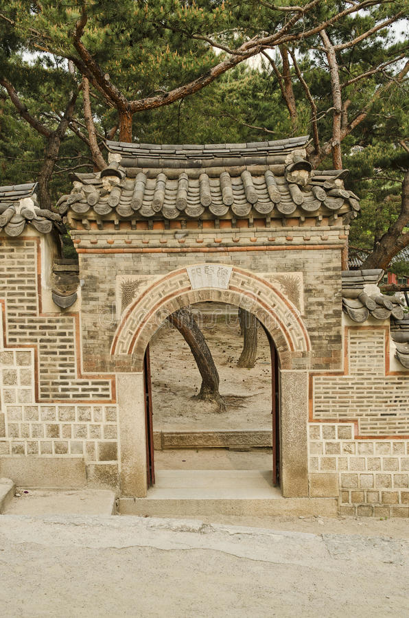 Configuración tradicional en el Sur Corea de Seul foto de archivo