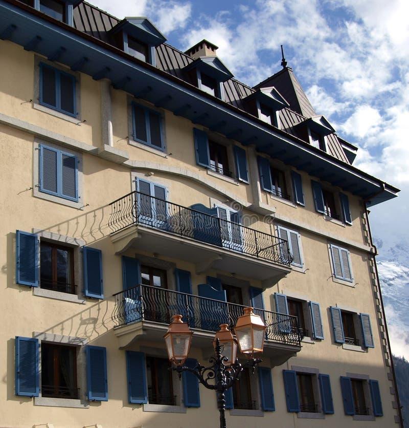 Configuración urbana en Chamonix-Mont-Blanc, Francia imagen de archivo libre de regalías