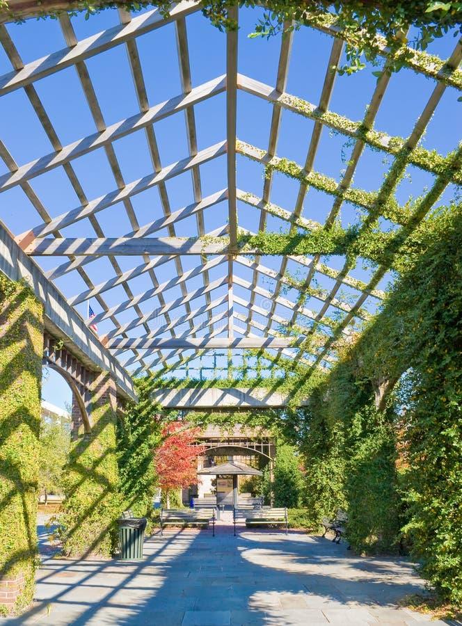 Configuración y jardines imagen de archivo