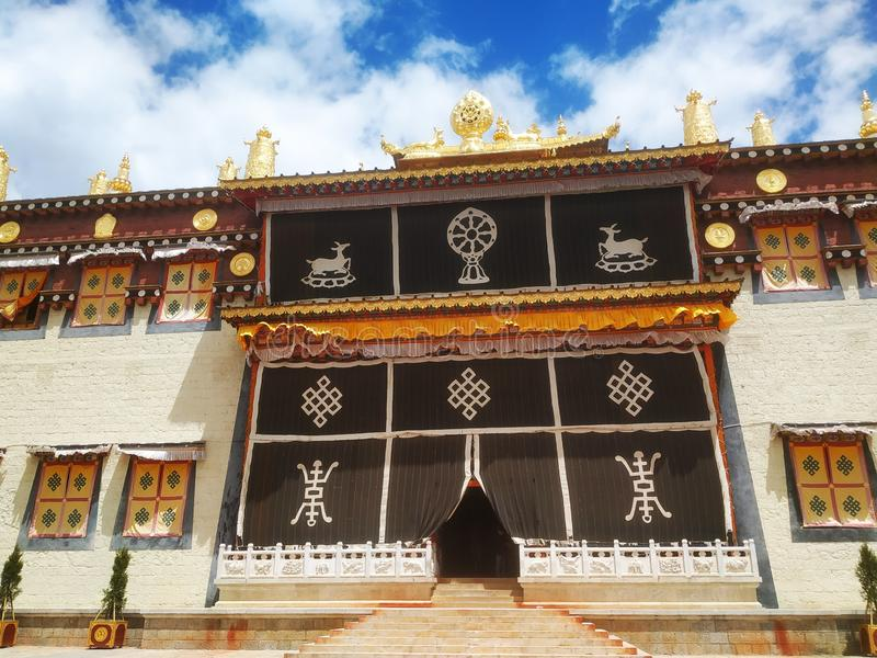 Configuraci?n budista tibetana foto de archivo
