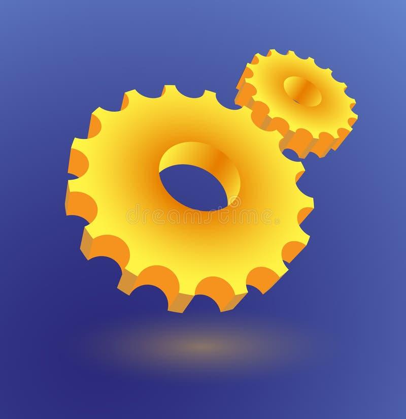 Configuraciones ilustración del vector