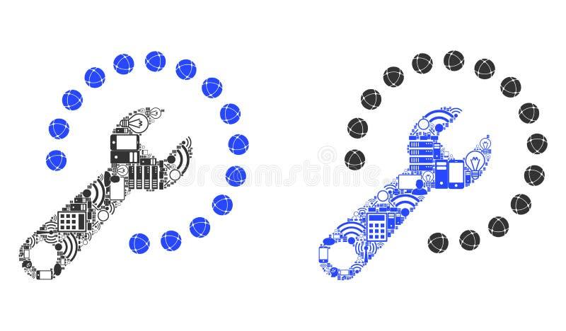 Configurar o ícone do mosaico para BigData ilustração royalty free